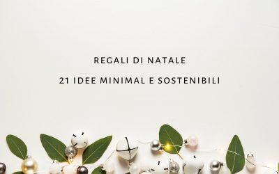 Regali di natale minimal e sostenibili